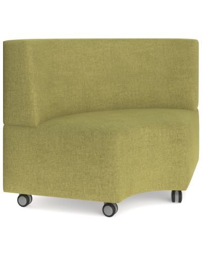 Showtime Corner Round Ottoman with Back - In Curved Modular Lounge