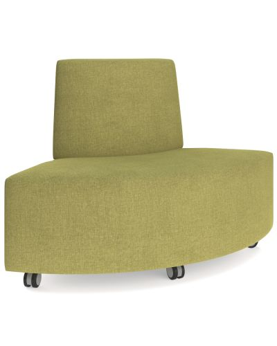 Showtime Corner Round Ottoman with Back - Out Curved Modular Lounge