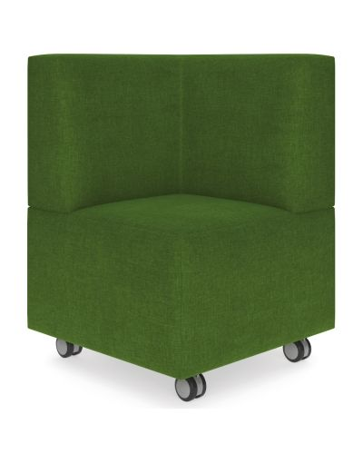 Showtime Corner Small Ottoman with Back Modular Lounge