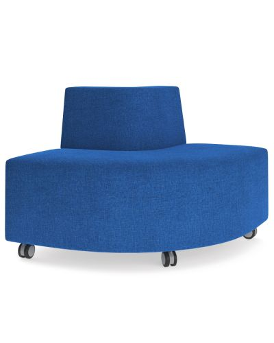 Showtime Corner Square Ottoman with Back - Out Curved Modular Lounge