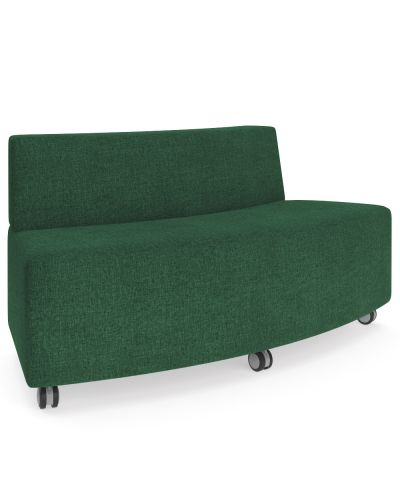 Showtime Curved Ottoman with Back - Out Curved Modular Lounge