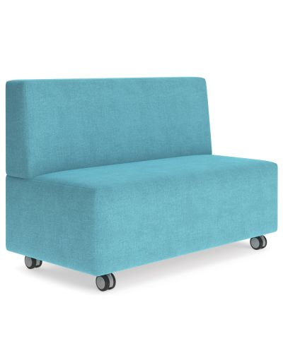 Showtime Straight Ottoman with Back - Modular Lounge