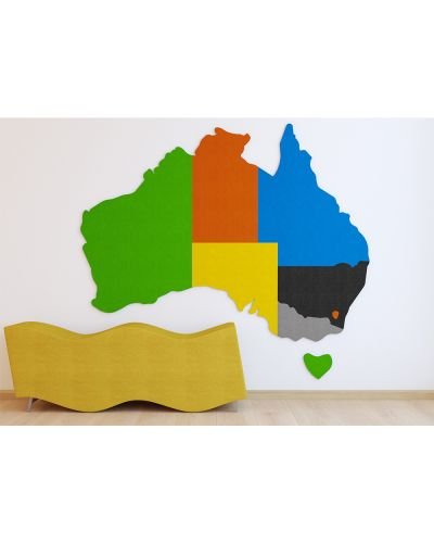 AudioArt Australian Map - Sound Absorbing Pinboard