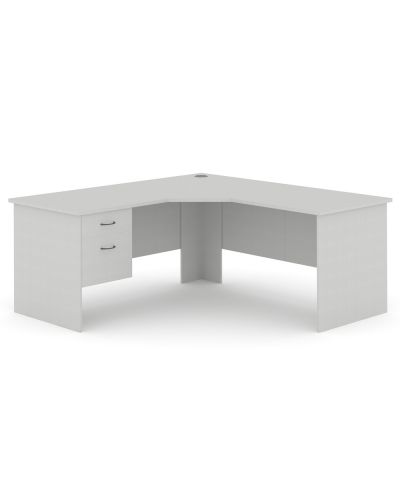 Commercial 3 Piece Corner Workstation