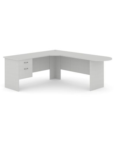 Commercial 3 Piece Corner Workstation With D-End - 1 Pen / 1 File Drawer