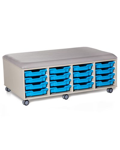 Cookie Fireball Mobile Classroom Storage Ottoman - 32 Trays