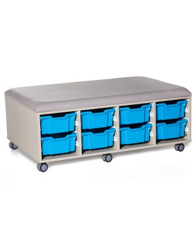 Cookie Fireball Mobile Classroom Storage Ottoman - 16 Trays