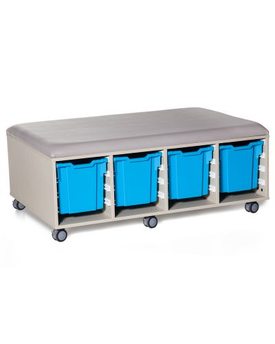 Cookie Fireball Mobile Classroom Storage Ottoman - 8 Trays