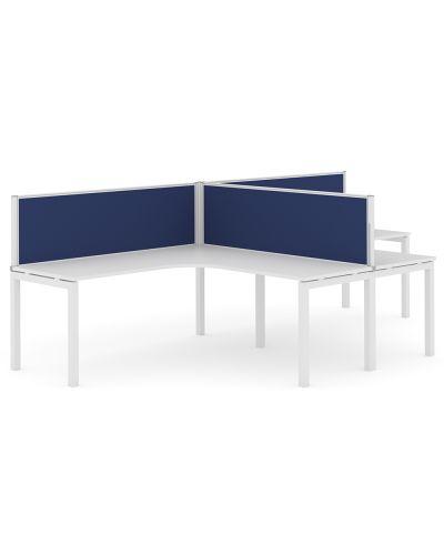 Civic 30 Desk Mount - 2 Person T Workstation