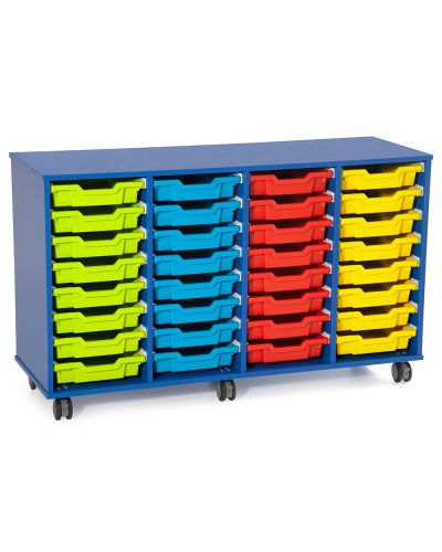 Fireball Mobile Classroom Storage 4 Column - 32 Trays