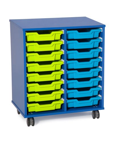 Fireball Mobile Classroom Storage 2 Column - 16 Trays