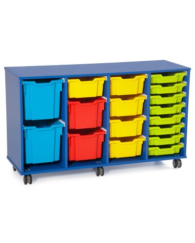 Fireball Mobile Classroom Storage 4 Column - Trays as shown