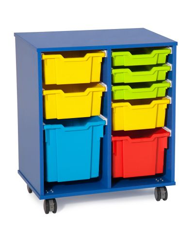 Fireball Mobile Classroom Storage 2 Column - Trays as shown