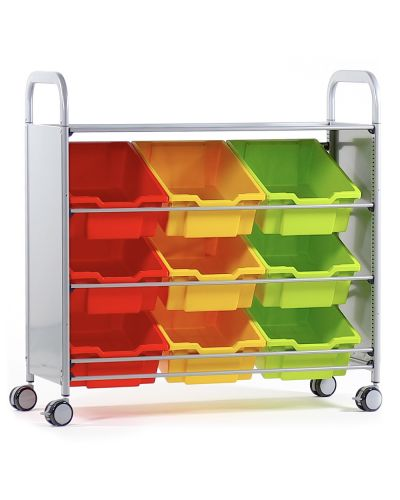 Gratnells Tilted Tray Trolley