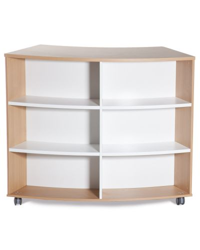Jupiter Double Sided Curved Bookcase