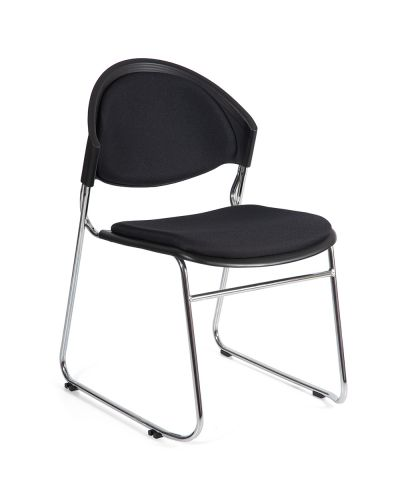 Strata Sled Base Stacking Chair Upholstered