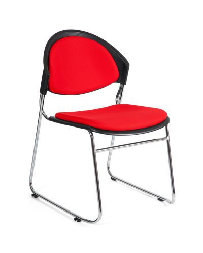 Strata Sled Base Upholstered Stacking Chair - Clearance
