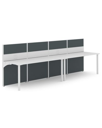 Urban 50 Rondella - 2 Person Straight Workstation - Clearance