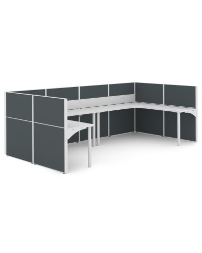Urban 50 Rondella - 2 Person U Workstation - Clearance