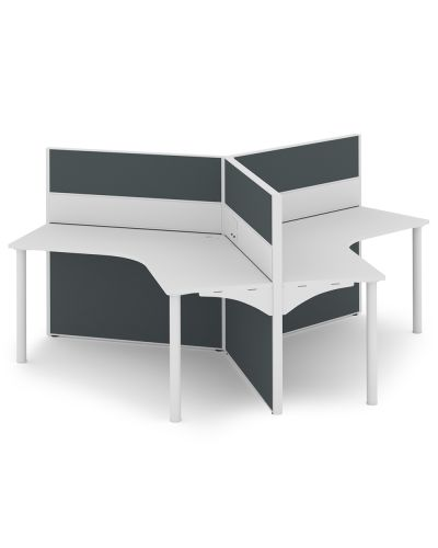 Urban 50 Rondella - 3 Person 120 Degree Workstation - Clearance