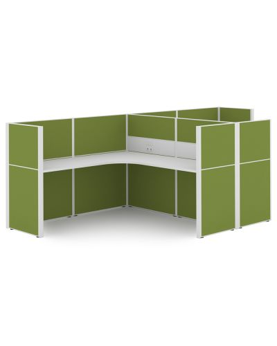 Urban 50 Wrap Around - 2 Person T Workstation - Clearance