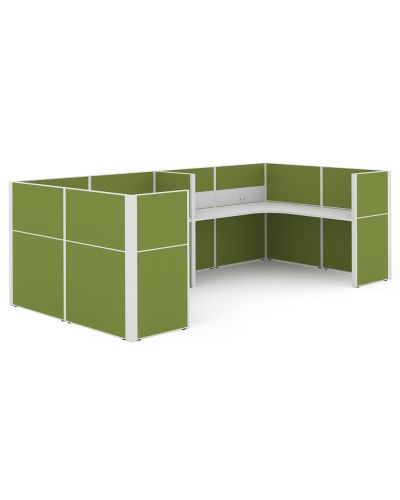 Urban 50 Wrap Around - 2 Person U Workstation - Clearance