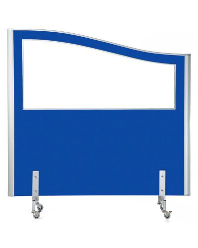 Mobile Smart Screen Wave Top - Half Glazed - 1500H x 1500W - Screen Blue