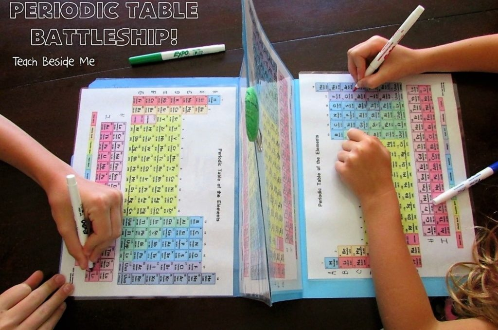 Science Activity - Periodic Table Battleships by Teach Beside Me