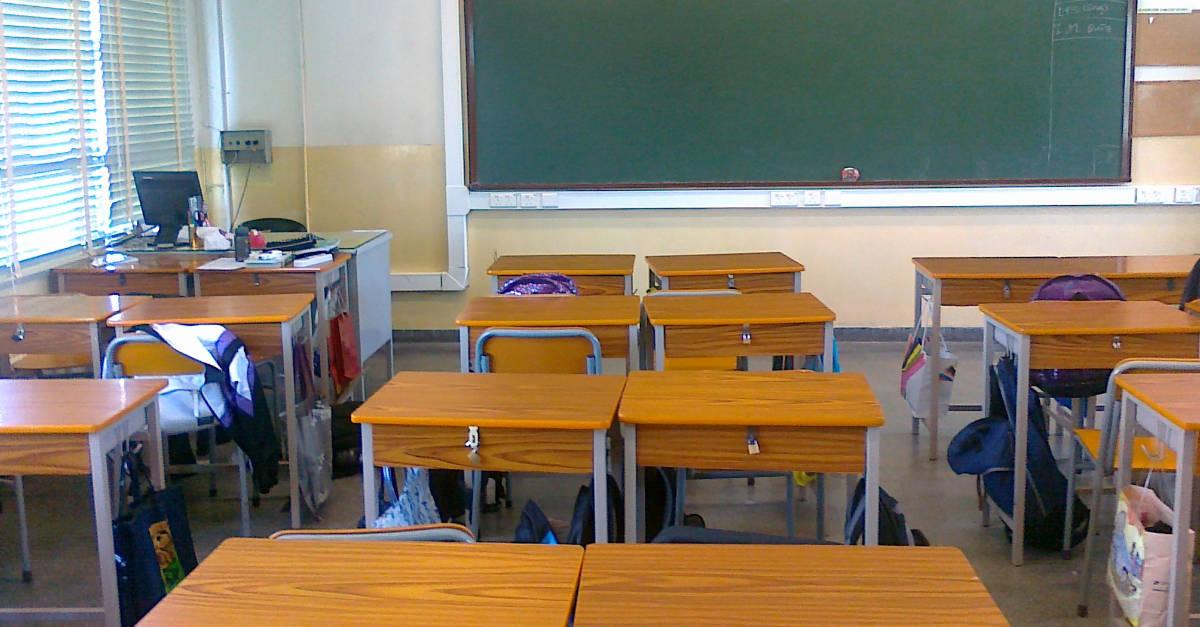 Teacher Desk Centred Classroom